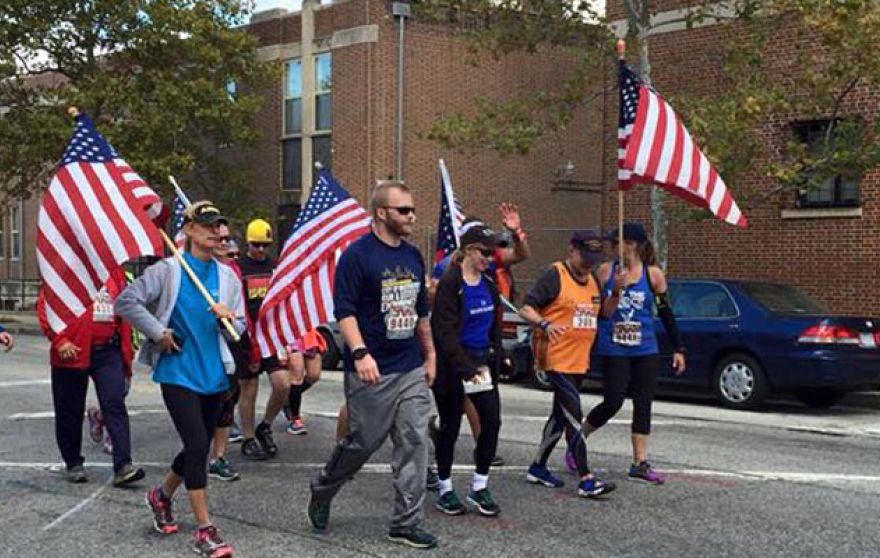Retired Navy Veteran Runs in Honor of Fallen Heroes