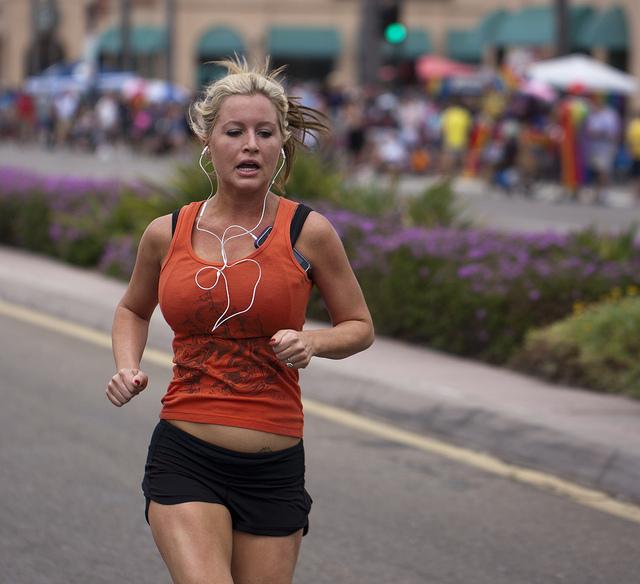 Marathon running boobs